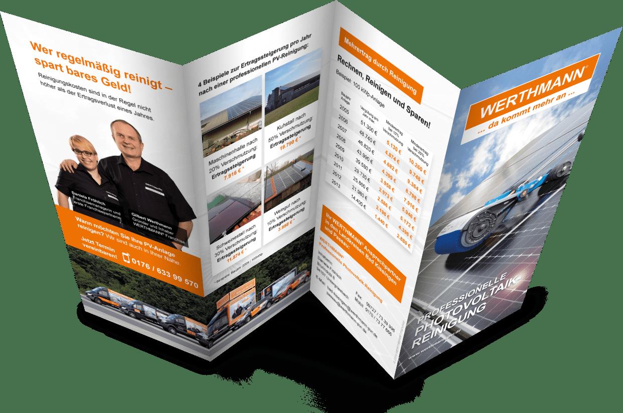 Flyer Photovoltaik-Reinigung - WERTHMANN Franchise