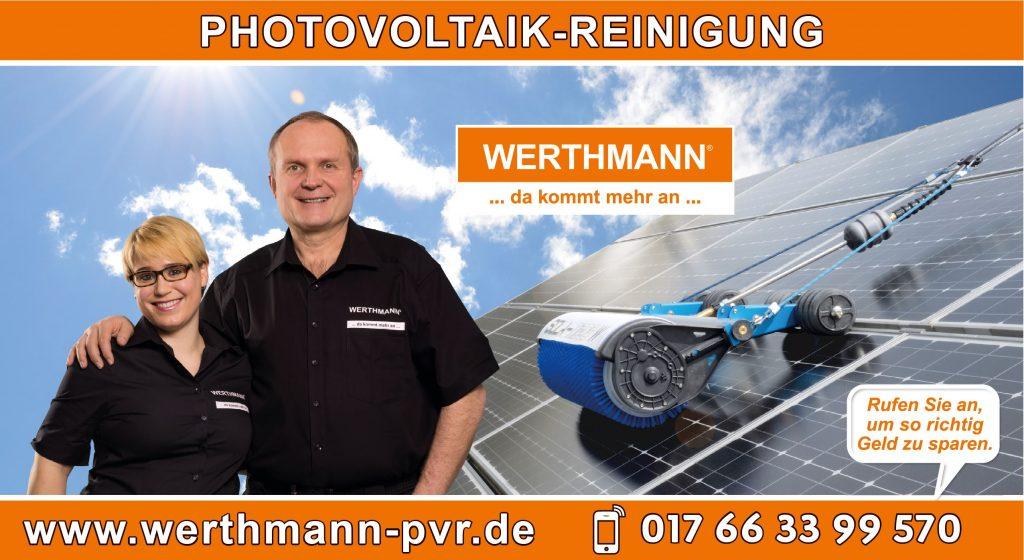 Werbeschild Photovoltaik Reinigung - WERTHMANN Franchise