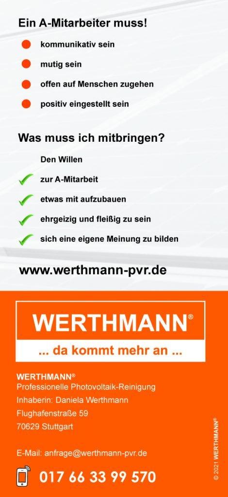 Flyer Franchisenehmer - WERTHMANN® Franchise